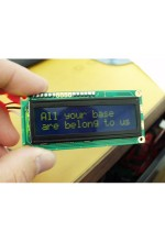 Serial Enabled 16x2 LCD - Yellow on Blue