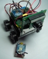 Bugger robot with AVRCam and XBee radio - FRONT/TOP