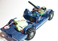 Trukster robot - rear view